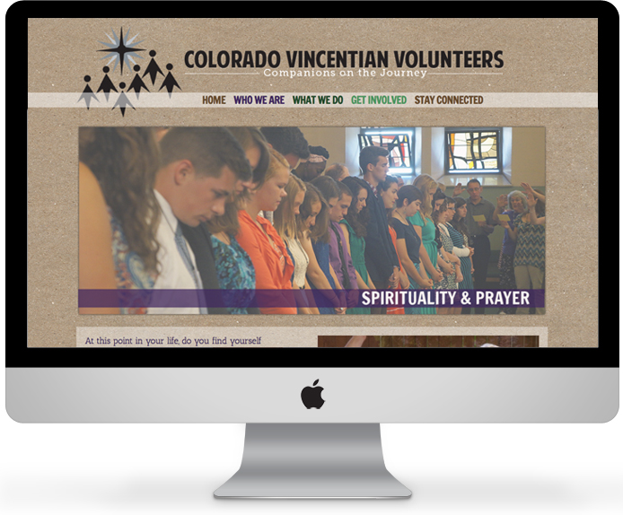 Colorado Vincentian Volunteers // Non-profit Wordpress design