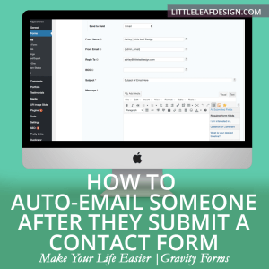 How to Auto-Email Someone After They Submit a Contact Form