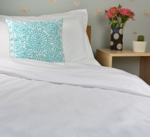 Organic Cotton Duvet Cover in a Pure White Colour, Ethical Bedding, GOTS Certified