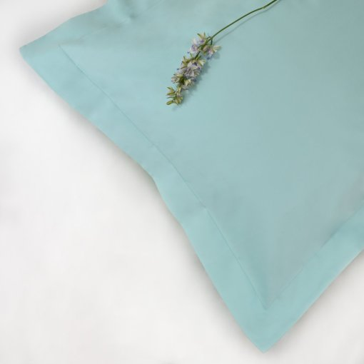 100% Organic Cotton Pillowcase Oxford Style in Aquamarine Colour