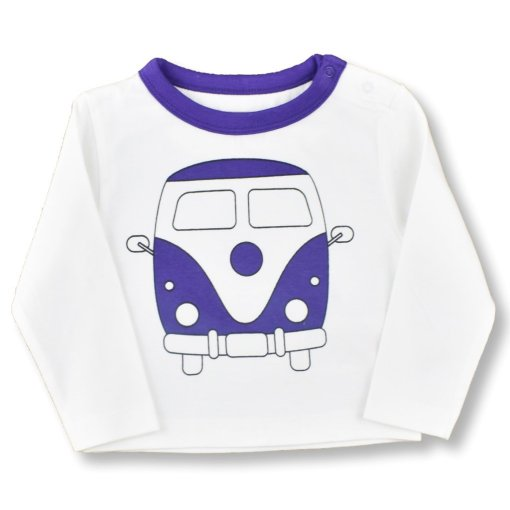 Organic Cotton Camper Van T-Shirt By LittleLeaf Folded Arms View