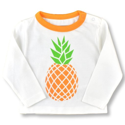 Organic Cotton Pineapple T-Shirt by LittleLeaf Folded Arms View