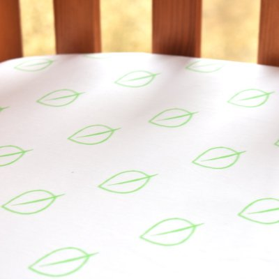 LittleLeaf Fitted Cot Bed Sheet (Leaf Print)
