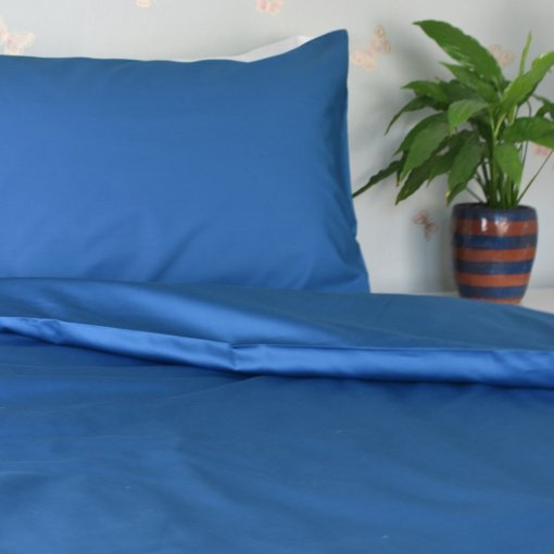 Organic Cotton Duvet Cover in an Ocean Blue Colour, Ethical Bedding, GOTS Certified