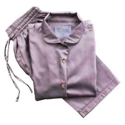 Chocolate Plum 100% Organic Cotton Pyjamas, GOTS and Soil Association Certified, by LittleLeaf