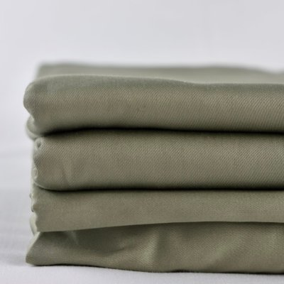 Olive Green 100% organic cotton bed sheets, fitted and flat, 300 thread count GOTS Certified Organic, Soil Association Certified Organic Cotton, ethically and sustainably made