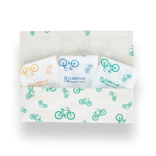 LittleLeaf Bicycle Handkerchiefs in Bicycle Pouch