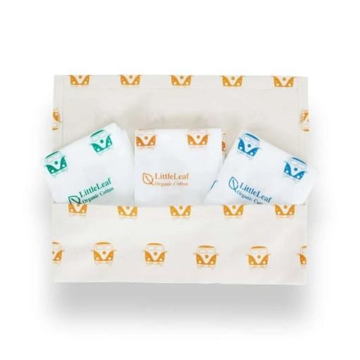 LittleLeaf CamperVan Handkerchiefs in CamperVan Pouch