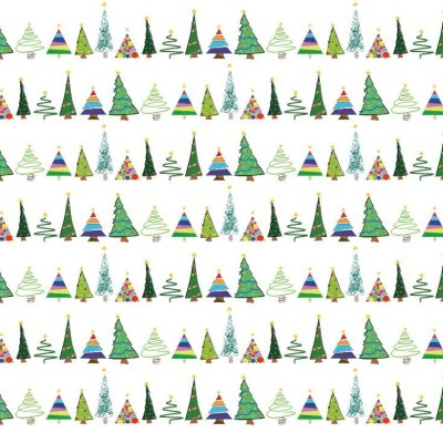 LittleLeaf Eco Wrapping Paper - Christmas Trees Design