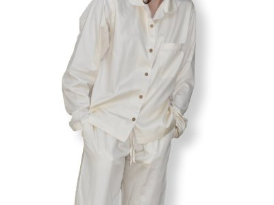 LittleLeaf Natural Women's Pyjamas with White Piping