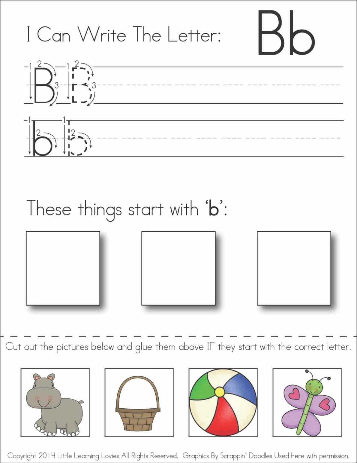 Free Printable Cut And Paste Alphabet Worksheets