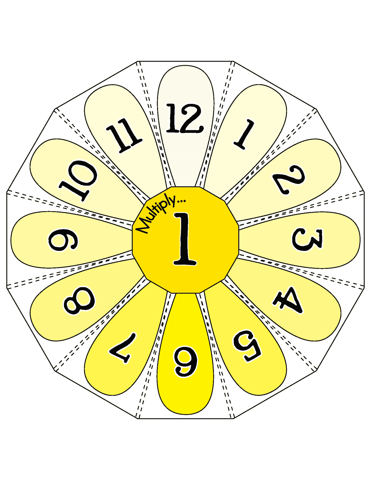 Multiplication Flower Wheels 0 12 Lll Page 04