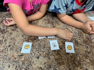 Time to play the memory game language activity for children
