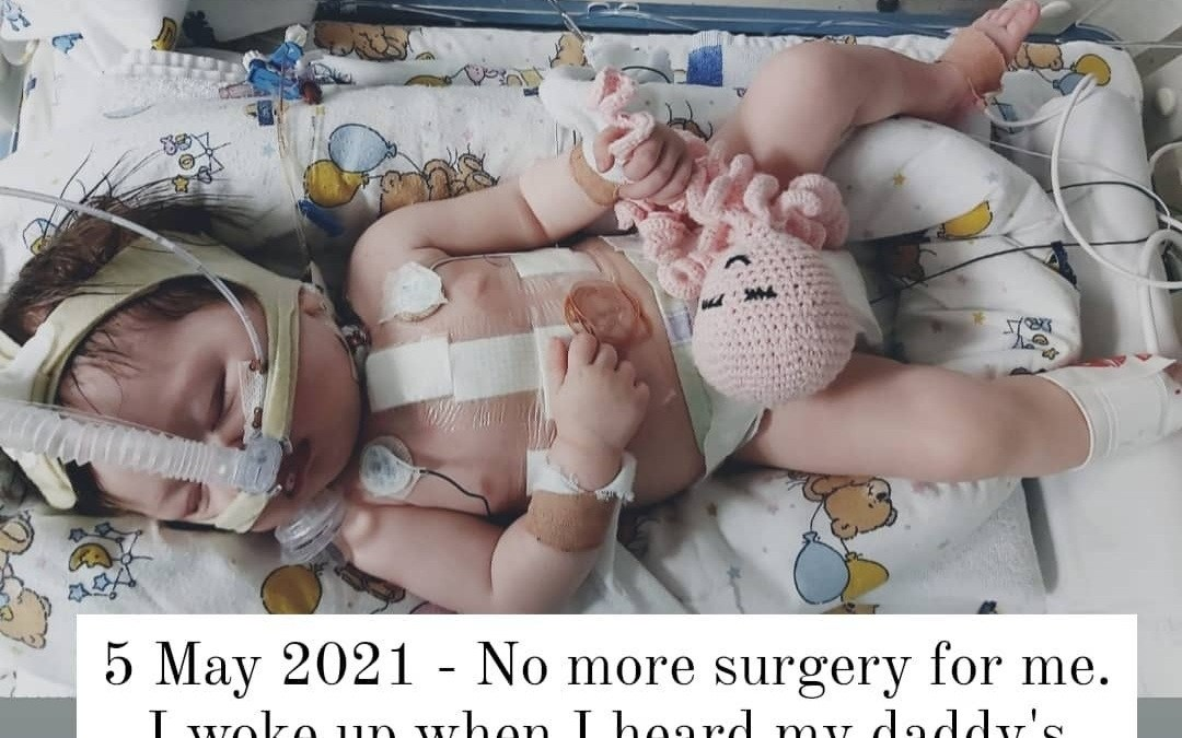 The journey of little Zoey Anne's open heart surgery.