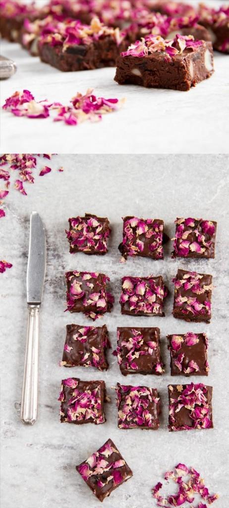 edible flower brownies