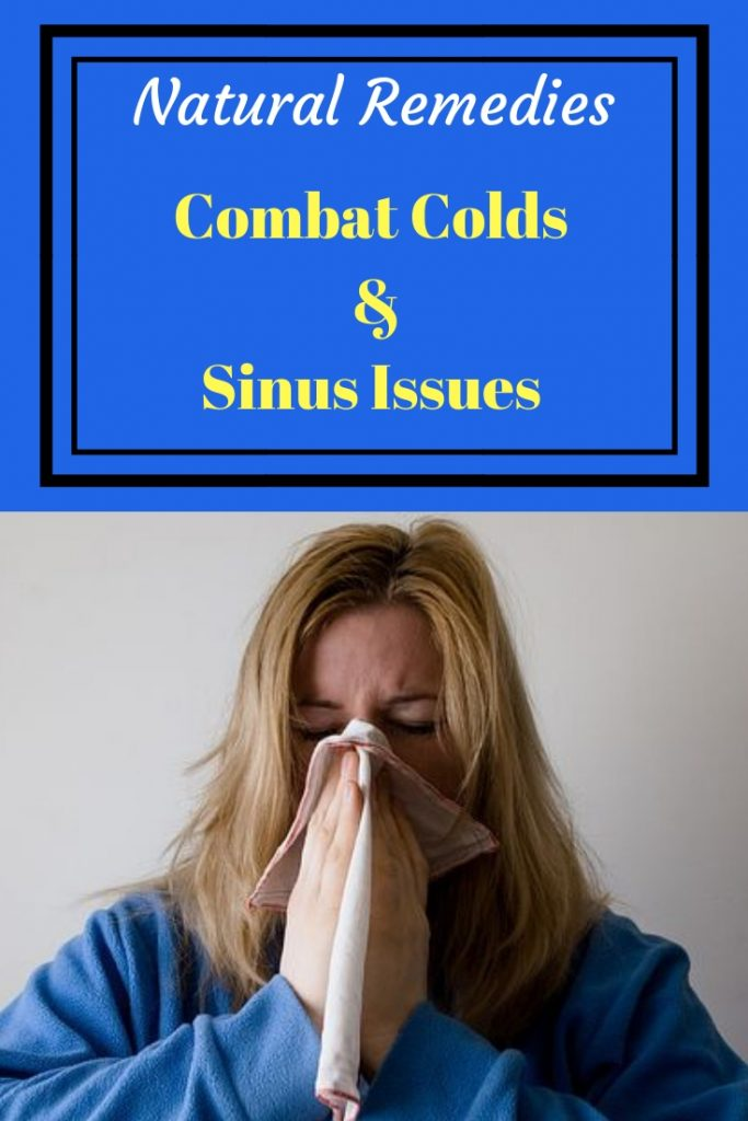 Natural remedies to combat colds and sinus issues, woman sneezing