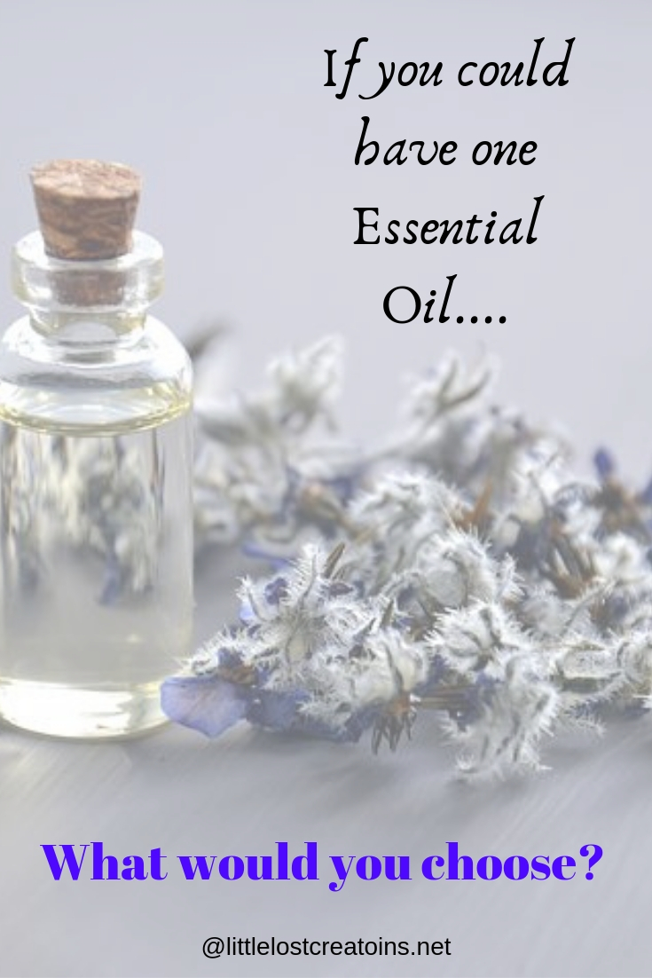 Borage with an essential oil bottle. If you could have one essential oil what would you choose