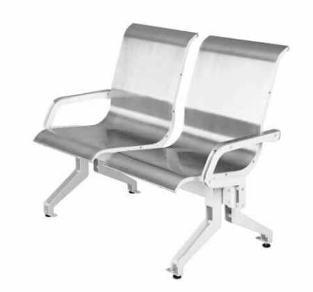 Premier Seating Stainless Steel Silverline Bench