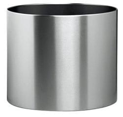 Stainless Steel Round Solid Planter – Office Accessories