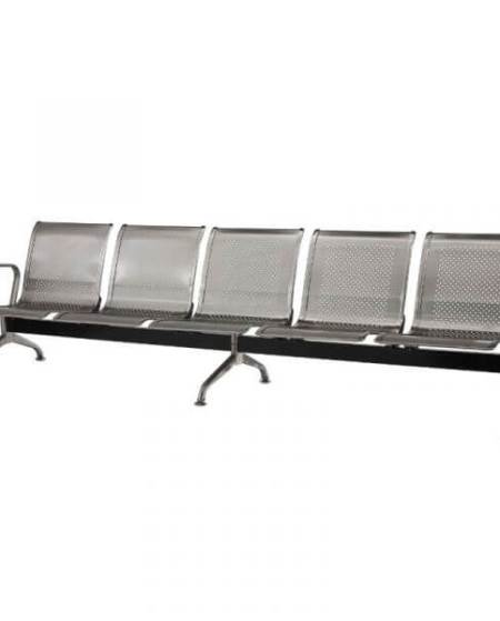 Silverline Stainless Steel Airport Bench
