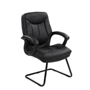 Leather High Back Visitors Chair