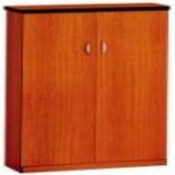 3 Shelves Melamine Filing Cabinet Cherry Colour Black Edge PVC