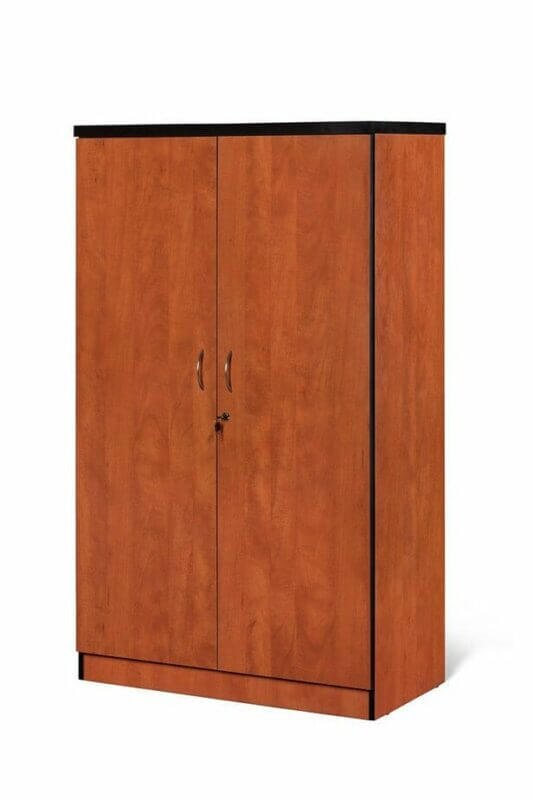 3 Shelves – 2 Door Stationery Cabinet Cherry Royale