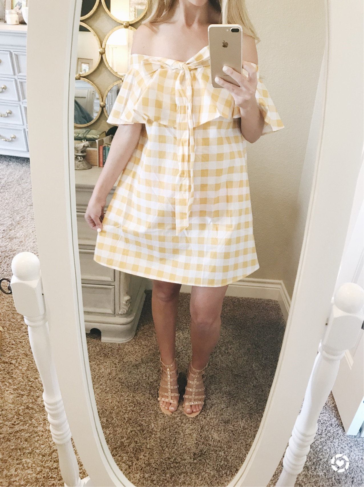 yellow gingham sundress ASOS