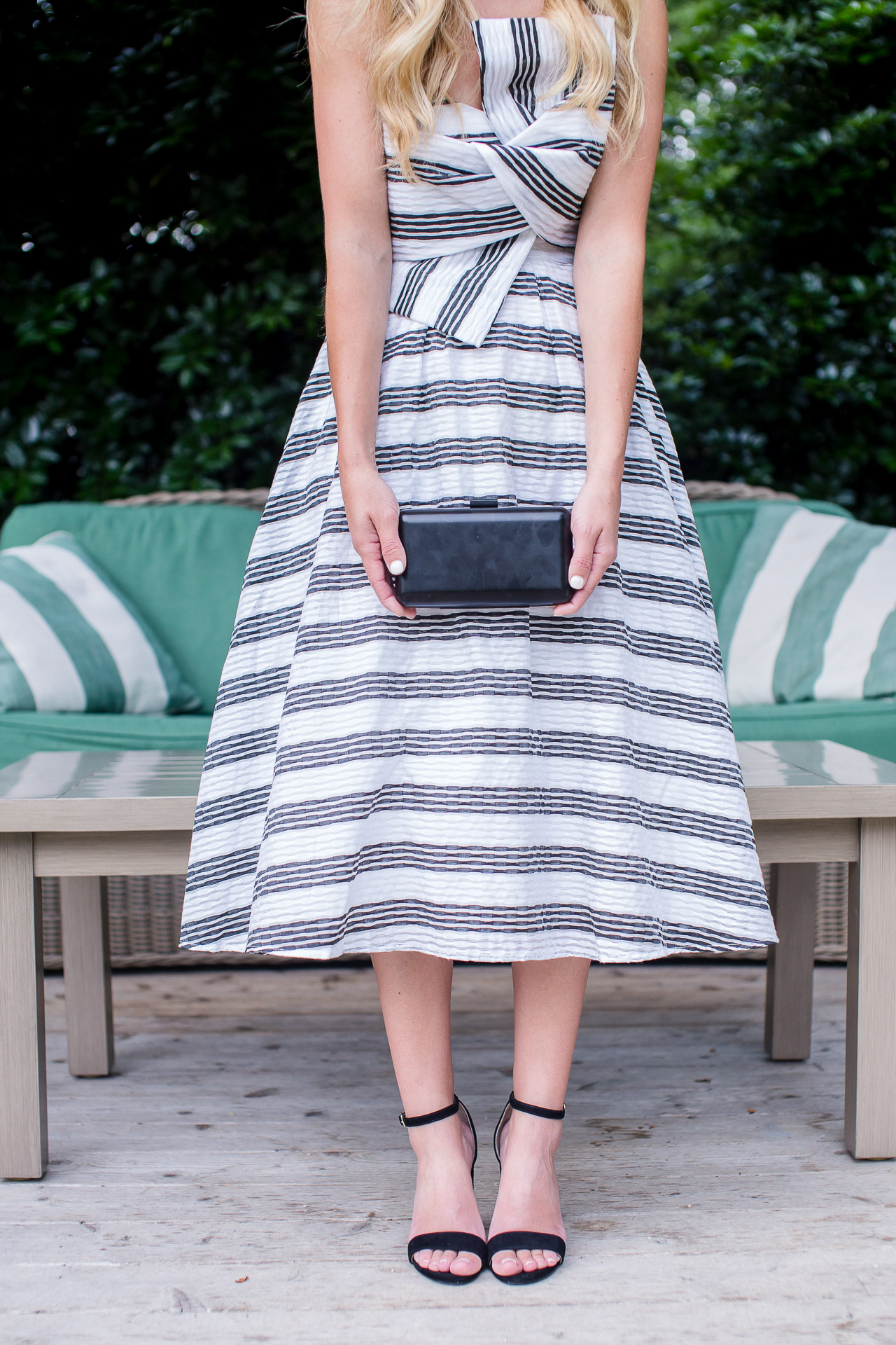 asos striped bow dress for a wedding