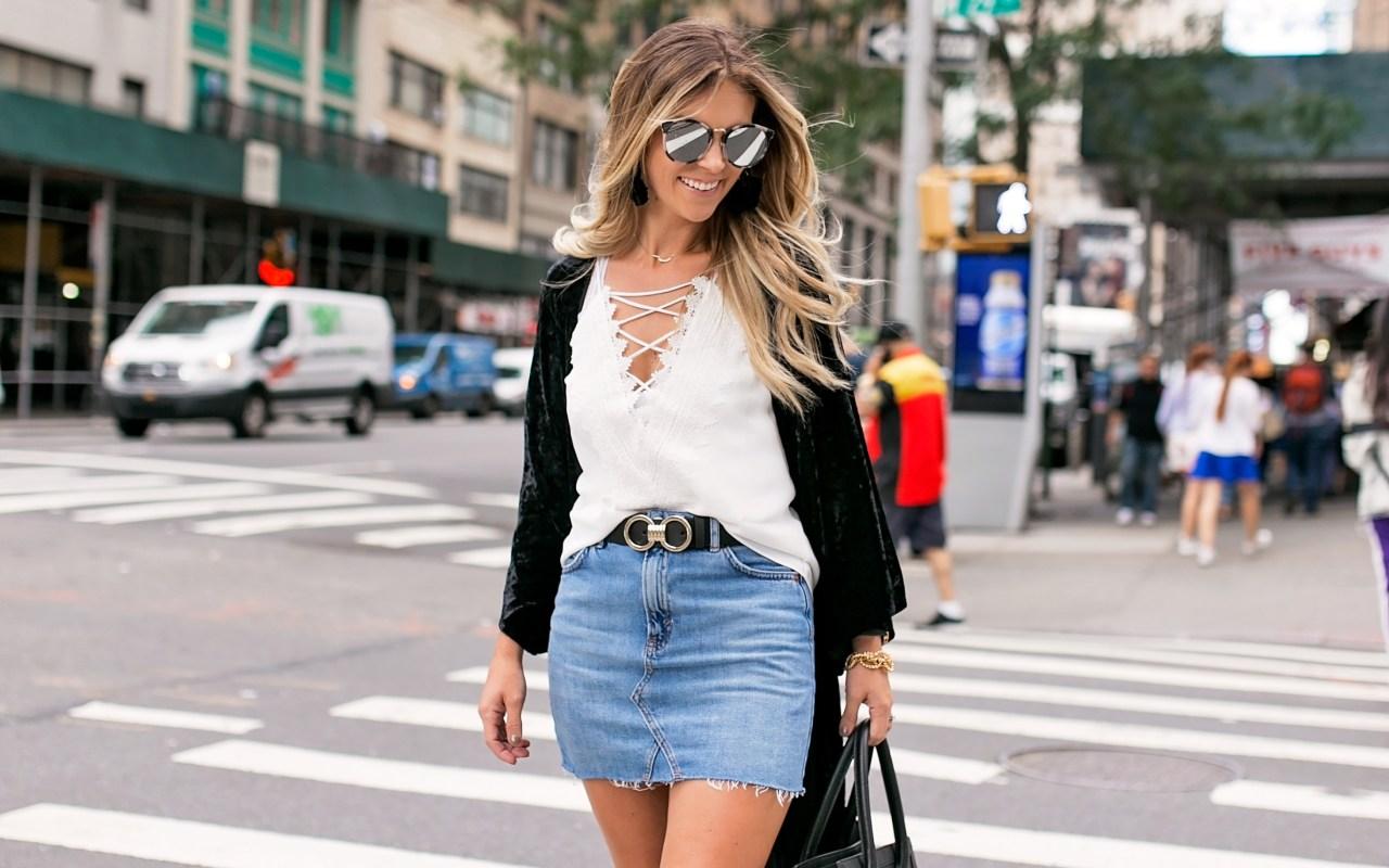 5 Ways to Wear a Denim Skirt