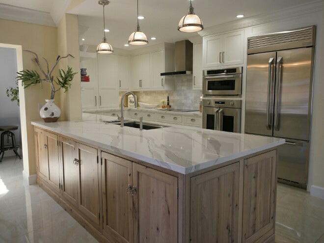 modern kitchen peninsula