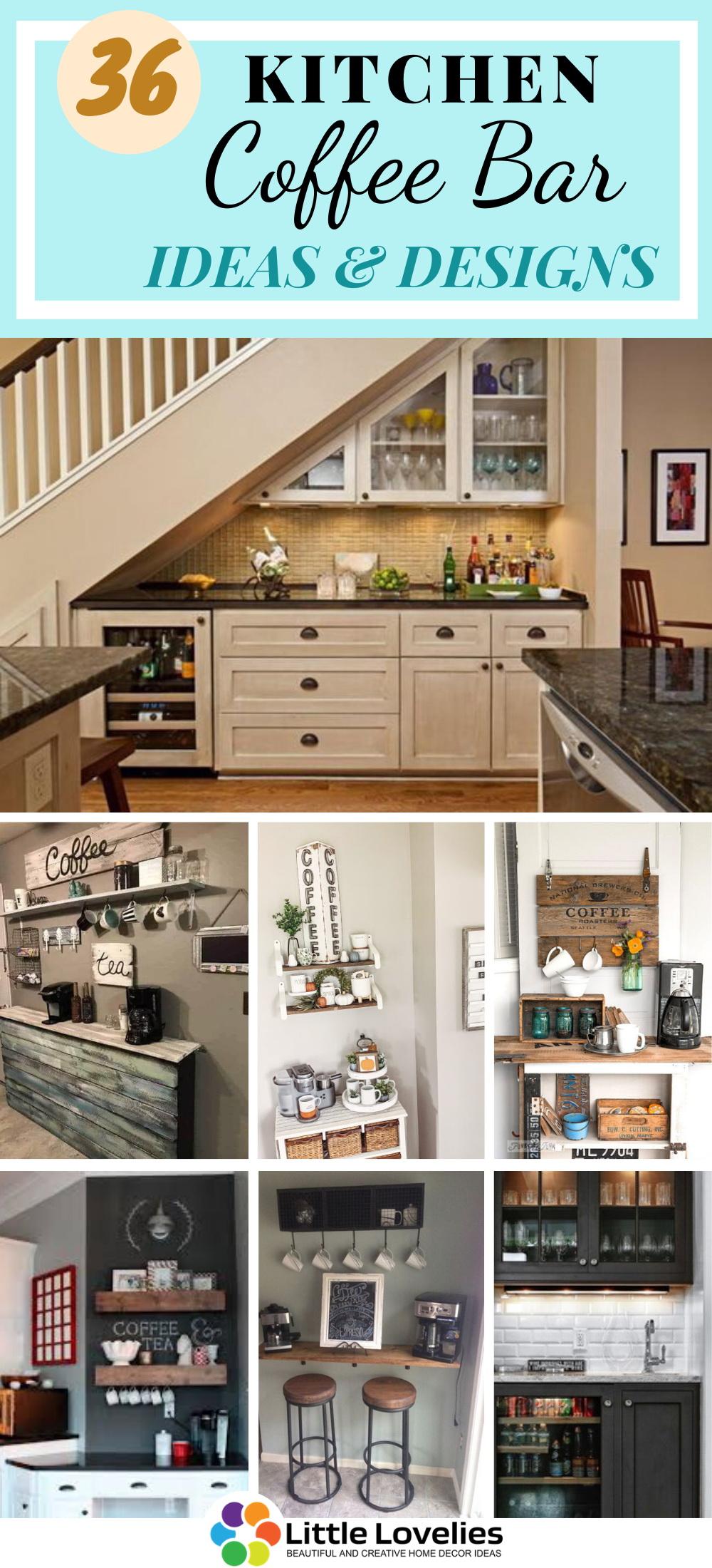 36 kitchen coffee bar ideas to organize