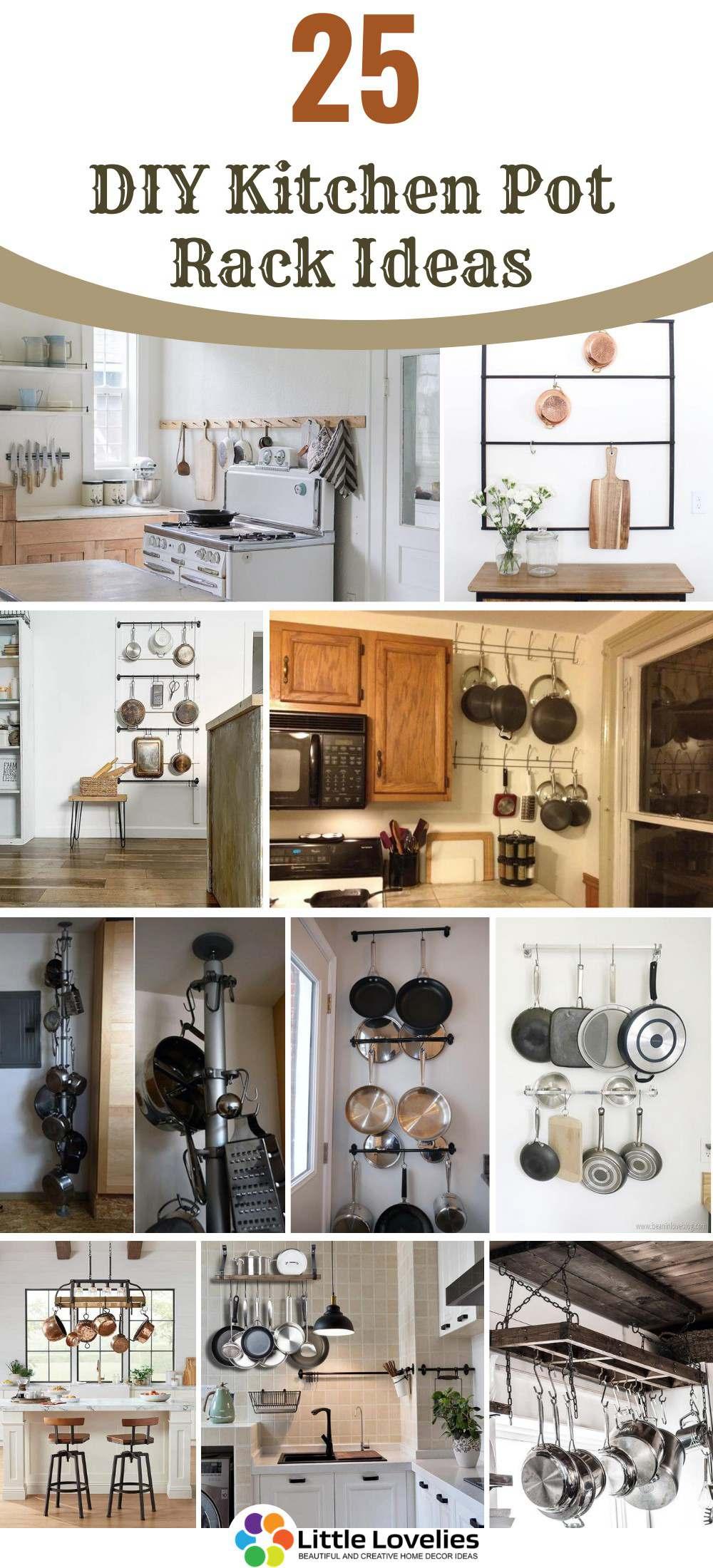 25 diy pot rack ideas easy ways to