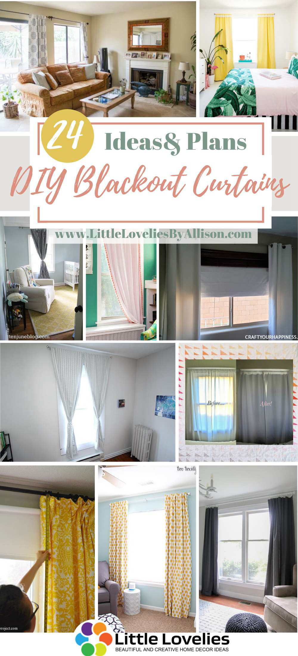 24 homemade blackout curtains ideas you