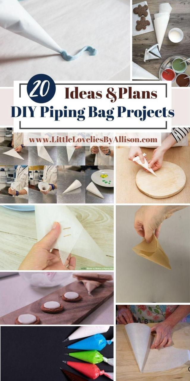 30 DIY Piping Bag Projects: How To Make A Pastry Bag