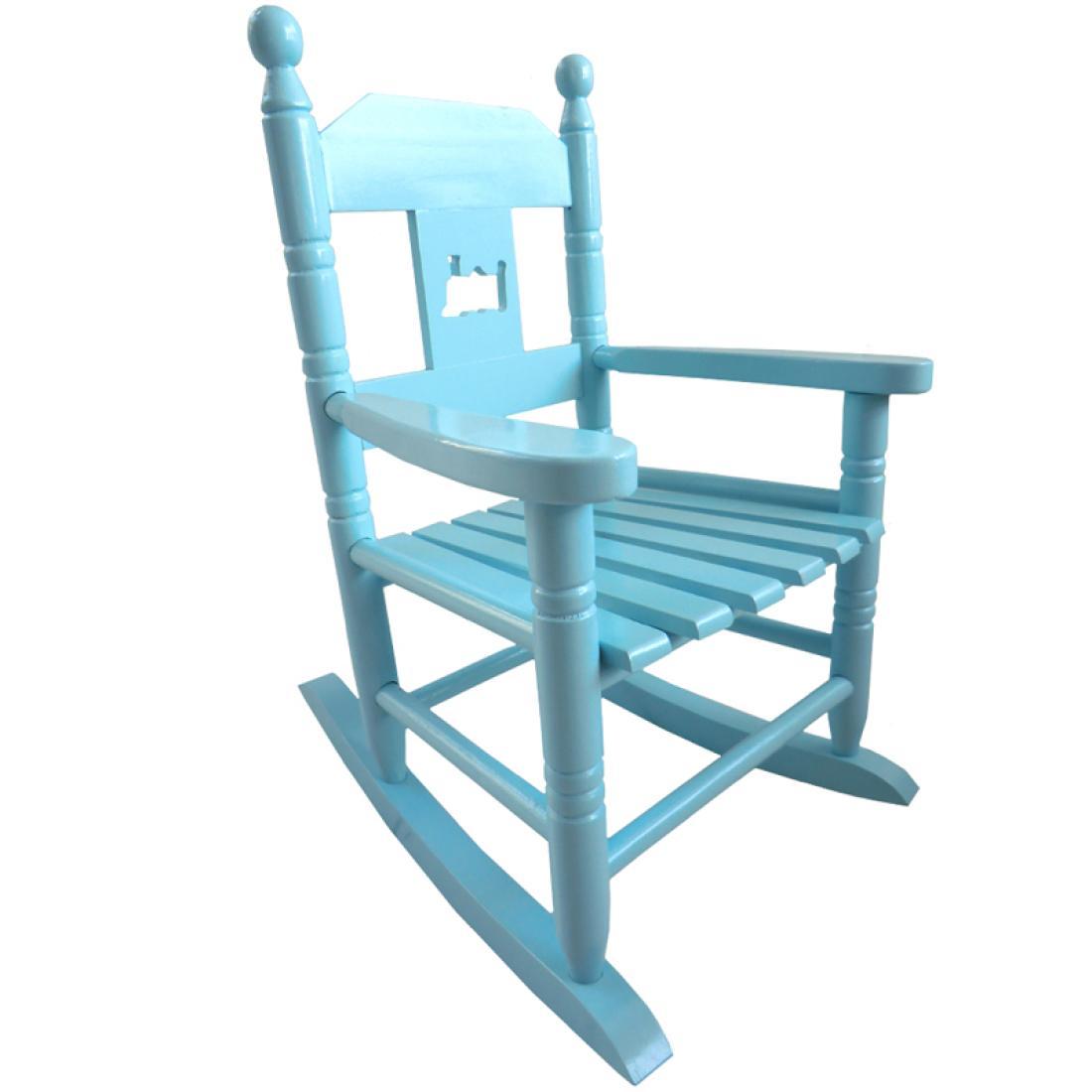 rocking chair height roman folding blue childs