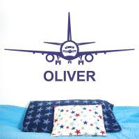 Aeroplane Personalised Name Wall Sticker