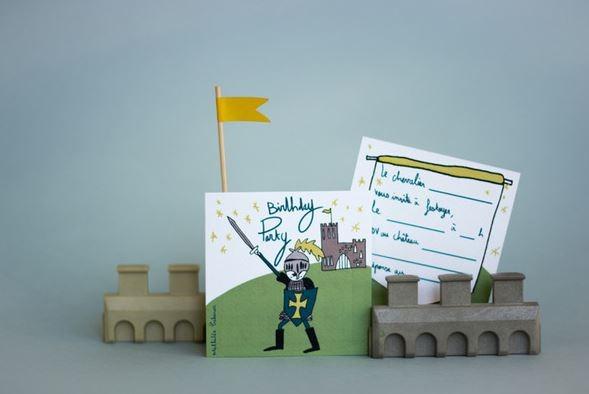 invitation anniversaire chevaliers