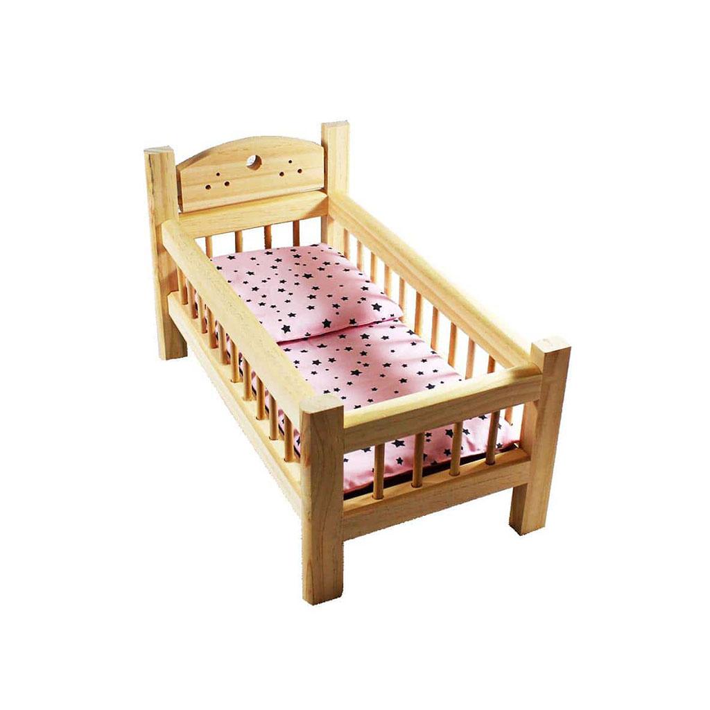 lit de poupee bois naturel