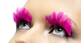 faux-cils-plumes-roses