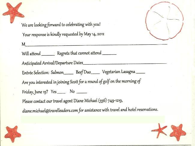 Wedding Response Card