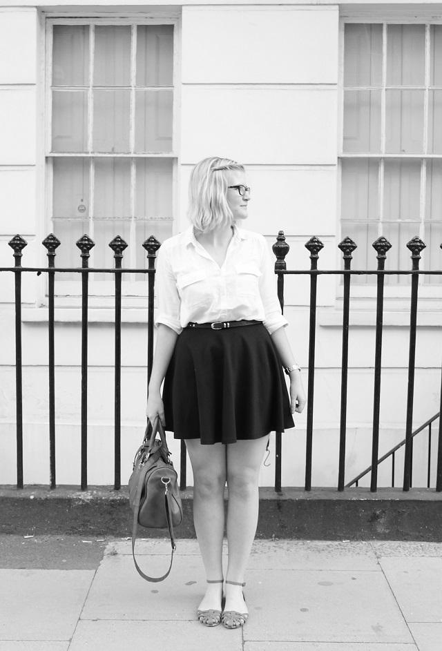 Little Miss Katy OOTD Begin Again black and white
