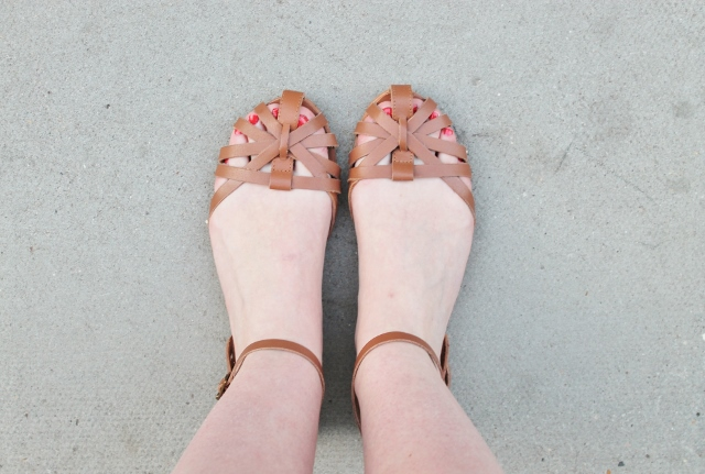 New Look Tan Strappy Sandals