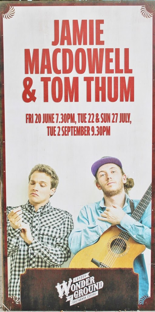 London Wonderground Jamie MacDowell and Tom Thum poster