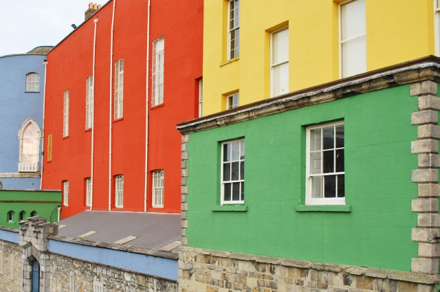 Colourful buildings Dublin