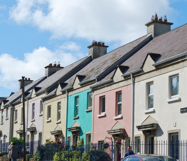 Pastel houses in Howth