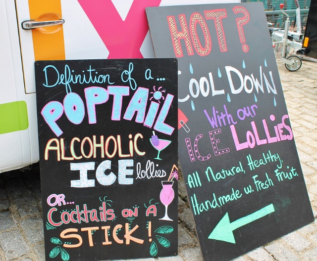 Alcoholic ice lollies poptails