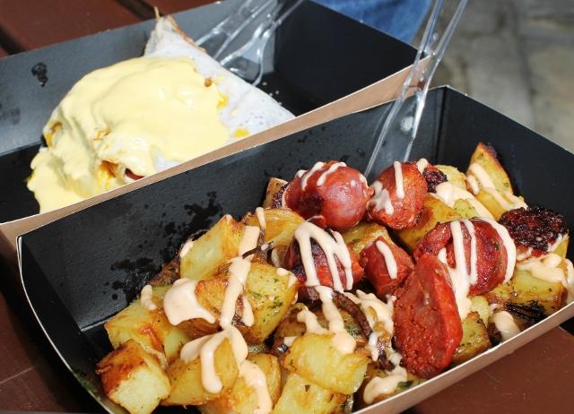 The Breakfast Club chorizo hash and eggs benedict