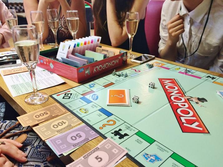 Pizza prosecco Monopoly