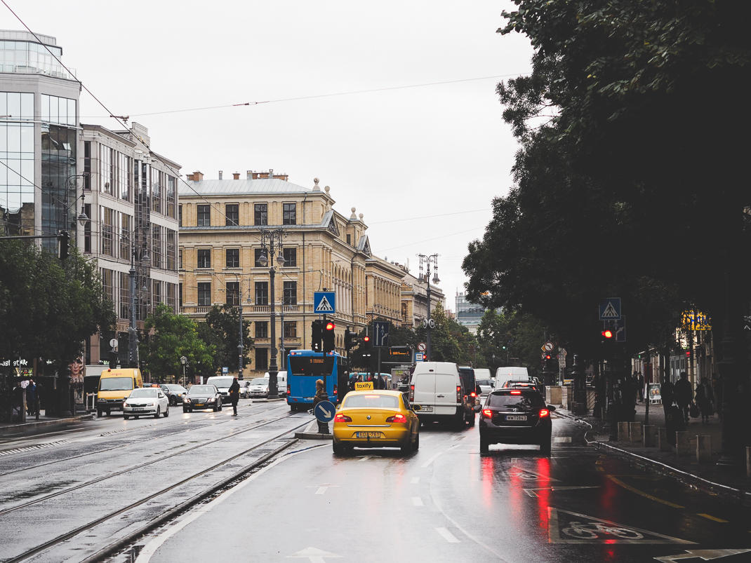 budapest rainy streets